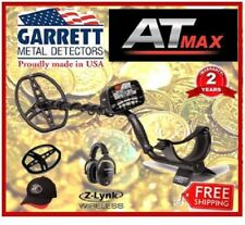 GARRETT AT MAX Metal Detector w/ Z-lynk Wireless HP, Coil Cover & Hat +FREE SHIP