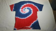 Tie dye t shirt - Red, White and Blue - Mens L