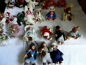 ADORABLE SET OF 24 Hand made Jointed Teddy Bears with clothes Occasion bears