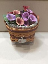 🧺 2007 Longaberger Miniature Petunia Complete Basket Set
