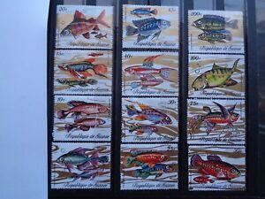1971 Republic of Guinea Sc #570-81 Fish MNH