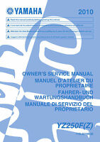 Yamaha YZ250 F YZ250F(Z) 2010 Owners Service Manual, FREE SHIPPING