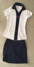 All by Jofit golf top n skirt womens navy/white/burgundy XS pre owned