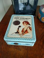 Vintage Oreo Embossed Tin Must Have Sandwich For Dessert Cookie 1986 Retro Phone