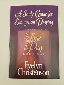 A Study Guide for Evangelism Praying by Evelyn Christenson, Very Good Condition