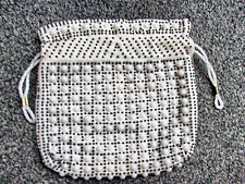 WHITE DRAWSTRING KEEPSAKE PURSE CARRY BAG for Cosmetics, 7 in Tablet NWOT