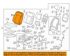 Chevrolet GM OEM 14-16 Malibu Driver Seat-Seat Back Cover 23436747