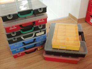 ZUBEHÖR: Umzugskarton voll mit Sortierboxen groß, gebraucht, aber meist gut!