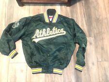 Oakland Athletics Starter Satin Script Logo Jacket Men's M Diamond Collection