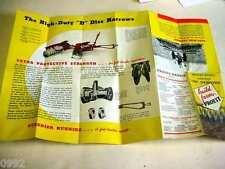 """Massey Harris #30 Tractor Disc Harrows 1920's-1930's Brochure 12""""x18"""""""