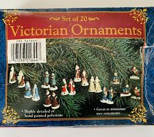 Giftco Set Of 20 Victorian Ornaments Miniature Hand Painted Polystone Christmas