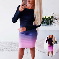 Bandage Evening Party Club Bodycon Dress Mini Women Long Sleeve Cocktail Casual