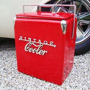 VINTAGE COOLER Coolbox RED Retro coca cola Coke Cool box wedding present 79VC