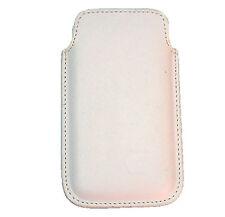 Funda para Telefono Movil iPhone 4G Cuero Piel Color Blanco 916