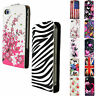 Card Slot Leather Vertical Phone Hard Cover Case Flip For Apple iPhone Samsung