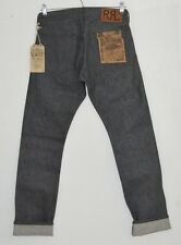 RRL RALPH LAUREN grey raw rigid JAPANESE Selvedge denim Slim Fit jeans 28 x 30