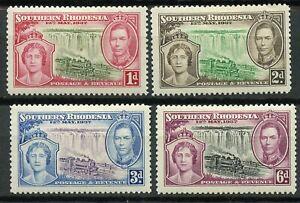 Southern Rhodesia Scott 38-41 GVI Coronation MINT HINGED 1937