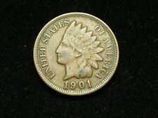 SUMMER SALE!! XF 1901 INDIAN HEAD CENT PENNY w/ DIAMONDS & FULL LIBERTY #47x