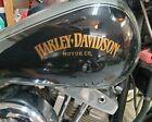 Golden Harley DAVIDSON Gas Tank Decal