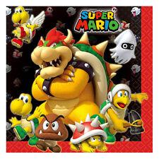 "16 Super Mario Bros Nintendo Birthday Party Disposable 6.5"" Paper Napkins"