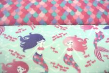Mermaids Fish Baby Toddler Blanket Can Personalize Double Sided 28x44