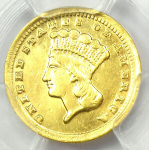 1859-C Indian Gold Dollar G$1 - Certified PCGS XF Details - Rare Charlotte Coin!