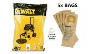5x Dewalt Replacement Paper Bags For DWV902M Dust Extractor DWV9401-XJ