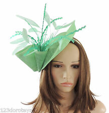 Mint Green Fascinator Hat for weddings/ascot/proms G3