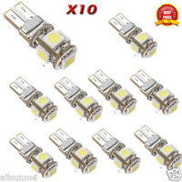 New 10 X Canbus Error Free White T10 5-SMD 5050 W5W 194 16 Interior LED bulbs