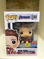 I AM IRON MAN GLOW GITD LIMITED EXCLUSIVE MARVEL AVENGERS ENDGAME FUNKO POP #580