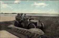 Atlantic City NJ Sand Art c1910 Postcard #3 OLD CAR