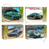 """Model Kits """"German tanks Armored forces 1939-45 WWII"""" toy figures 1:35 Zvezda"""