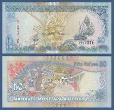 MALEDIVEN / MALDIVES 50 Rufiyaa  2000 UNC P.21 a