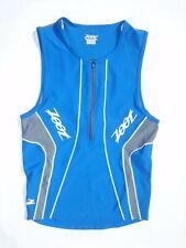 Zoot men's medium blue performance partial zip triathlon tank top