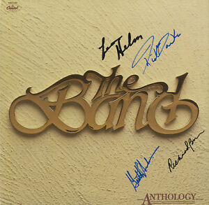 THE Band(Bob Dylan)SIGNED VINYL Anthology Hudson, Levon Helm, Rick Danko, Bell