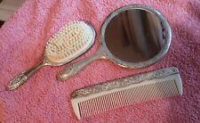 Ladies, Dressing Table Set, Mirror, Brush & Comb