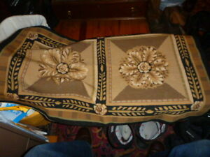 """36"""" X 24""""Finished Needlepoint Rug Bench Cover Upholstery Wall Art"""