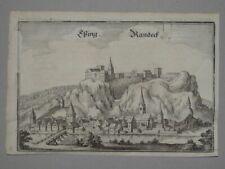 Eßing Essing Randeck Bayern Stadtansicht - Kupferstich Merian - 1650