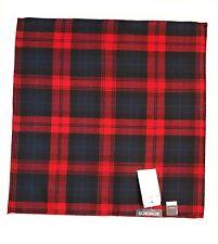 Bonobos Men's Luxury Handkerchief Red Plaid Wool Pocket Square NWT