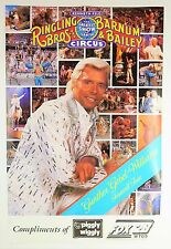 VTG 1989 Ringling Bros. Farewell Tour Circus Poster with Gunther Williams - NEW