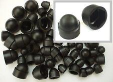 Black Plastic Nut Cover Caps. M6. M8. M10 Mixed 50 Pk. 10mm, 13mm, 17mm Spanner