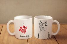 "American Staffordshire Terrier - ceramic cup, mug ""I love"", Ca"