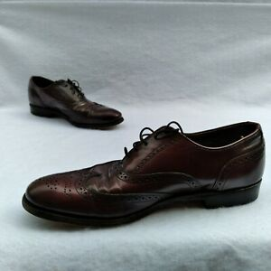 DEXTER MEN'S OXBLOOD LEATHER WINGTIP OXFORD SHOES 10.5 M BURGUNDY *PRE OWNED*