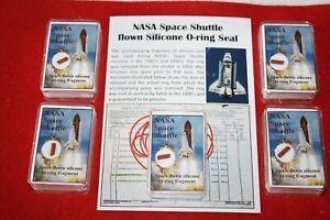 A Piece of History medium display - NASA Space Shuttle flown O-ring piece COA