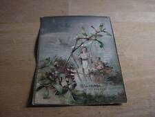 Vintage Victorian Flat Greeting Card: New Year's w/Lady Hope+Kids Clamshell Boat