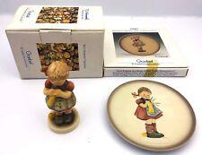 Goebel Hummel Figurine & Mini Plate - #259 & #747 - Stitch In Time - 1990