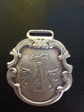 Coca Cola Watch Cover Solid Metal Patina Silver Finish Antique Style Soda