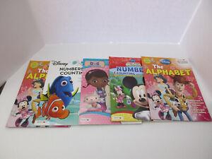 Lot of Five (5) Disney Activity Books