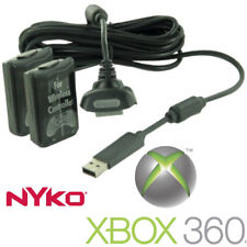 Nyko Xbox 360 Power Kit Plus 2 Wireless Controller Batteries Charging Cable