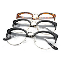 Fashion Unisex Retro Nerd Glasses Clear Lens Eyewear Round Metal Frame Glasses